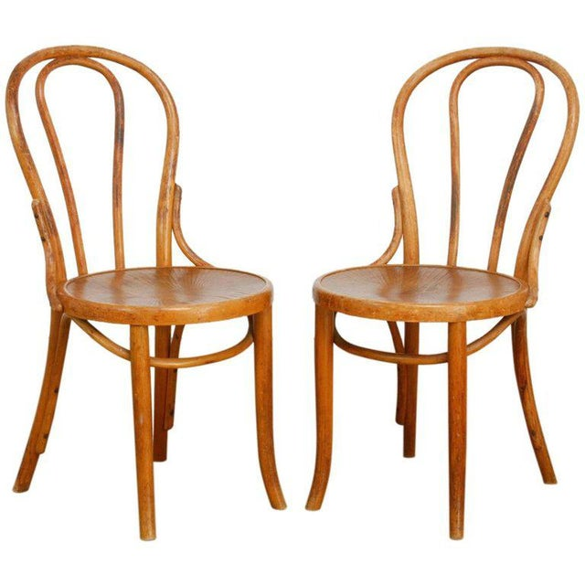 Michael Thonet No. 18 Bentwood Viennese Cafe Chairs - a Pair For Sale - Image 13 of 13