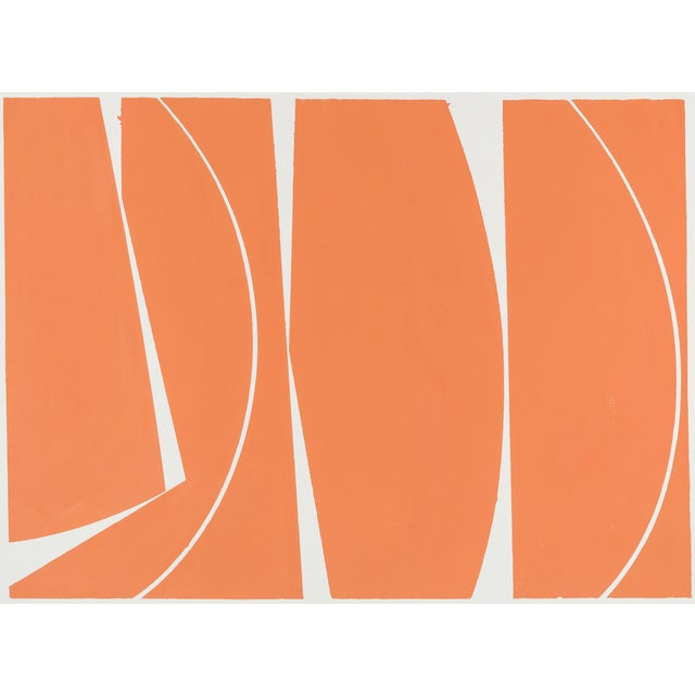 Covers 40 Orange, 2017, Gouache on handmade paper by Joanne Freeman. - Image 1 of 3