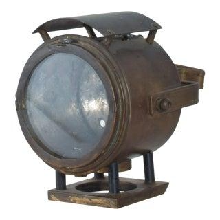 Antique Brass Bike Motorcycle Light Lamp Lantern For Sale