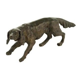 Vintage Austrian Bronze Setter Dog Figurine For Sale