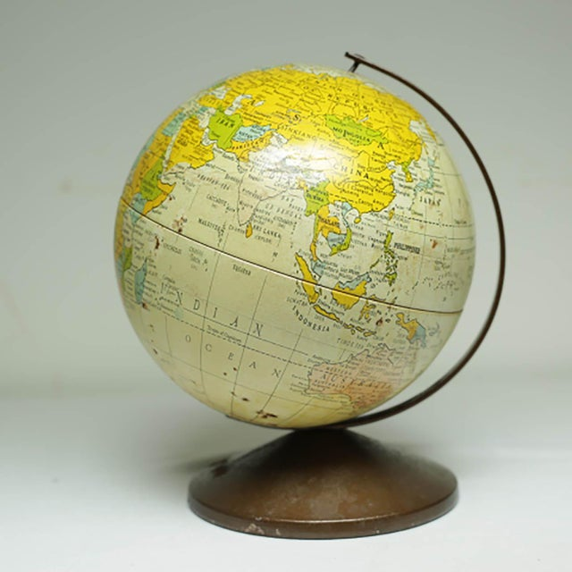 1970s All Metal Bank/Globe For Sale In San Francisco - Image 6 of 6