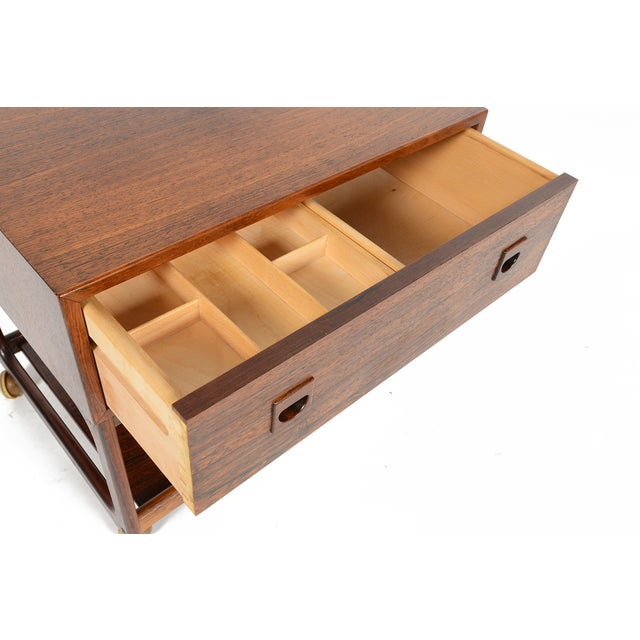 Danish Modern Rosewood Sewing Box - Image 6 of 10