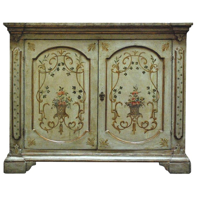 Early 19th C. Italian Neoclassical Painted Cabinet For Sale