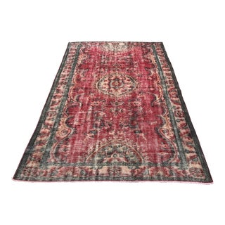 Handknotted Tribal Turkish Antique Undyed Rug - 5′9″ × 9′1″ For Sale