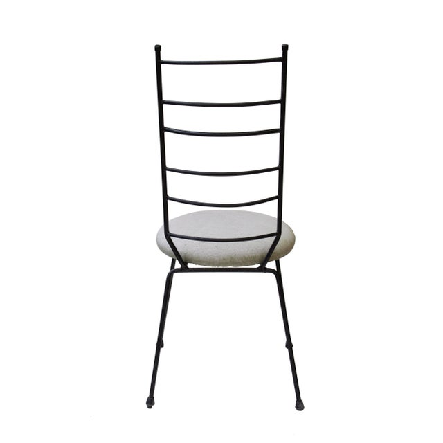 Metal Iron Ladder Back Patio Dining Chairs, S/4 For Sale - Image 7 of 9