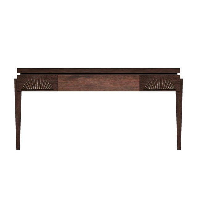 Contemporary Philippe Writing Desk (Stained Walnut) For Sale - Image 3 of 3