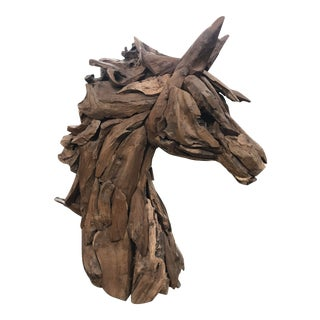 Teak Horse Head For Sale