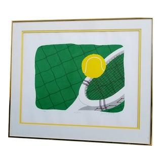 Jeanne Garant Tennis Serigraph