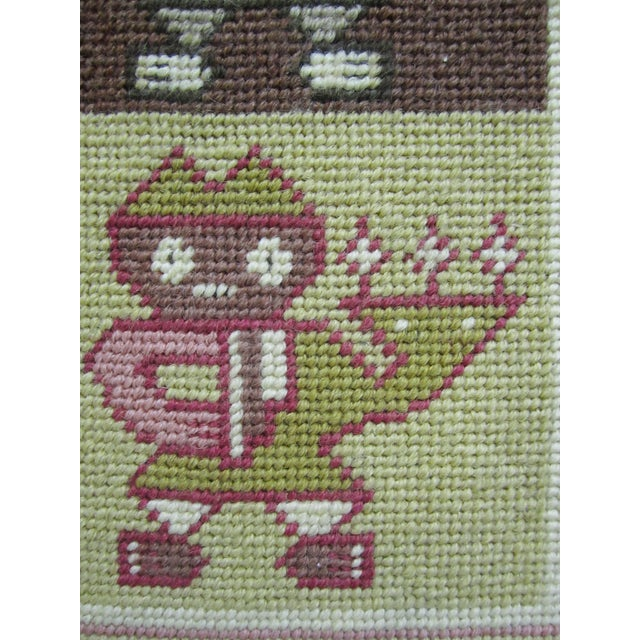 Anthropomorphic Needlepoint Tapestry - Image 2 of 4