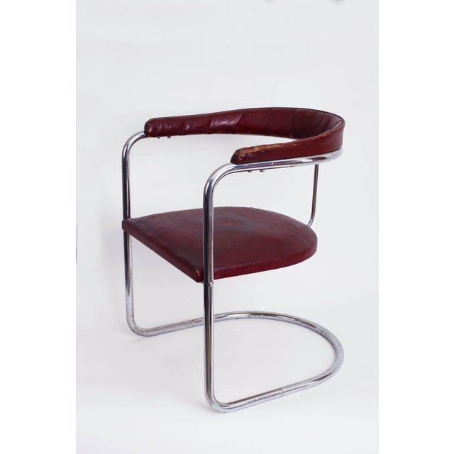 1930s Vintage Anton Lorenz for Thonet Cantilevered Steel Tube Ss33 Chair For Sale In New York - Image 6 of 7