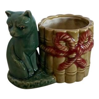 Vintage Ceramic Cat Pencil Holder