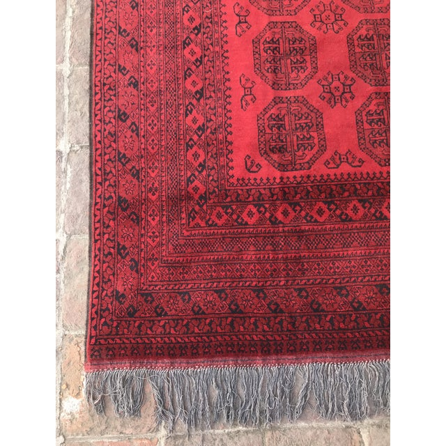 Vintage Hand-Knotted Wool Rug- 6′7″ × 10′7″ For Sale - Image 4 of 13