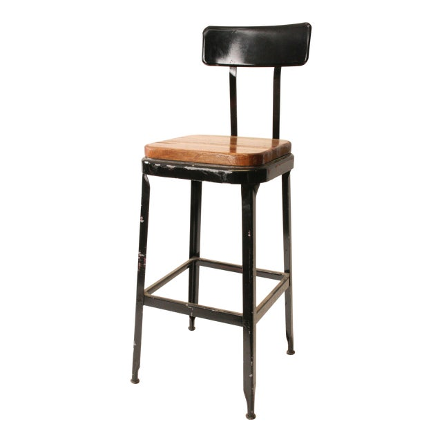 Astounding Vintage Lyon Industrial Metal Drafting Stool Machost Co Dining Chair Design Ideas Machostcouk