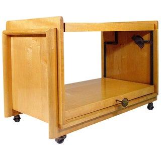 Brown Saltman Convertible Serving Cart / Table
