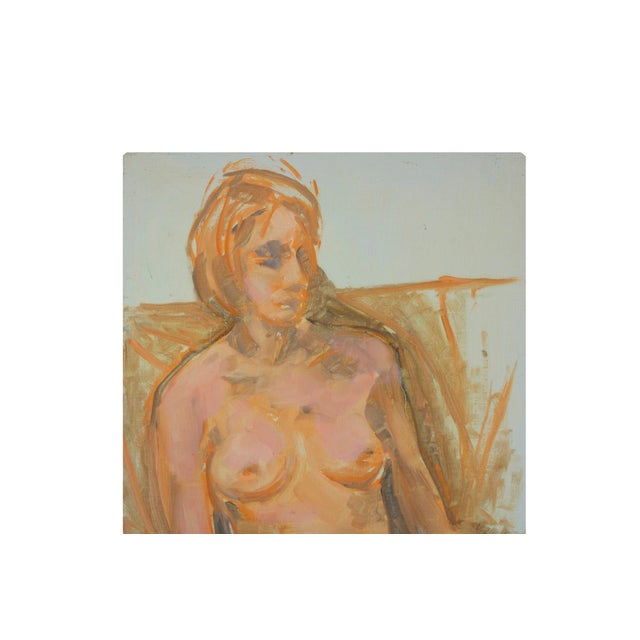 Nude Woman Portrait Paintings- Set of 2 - Image 4 of 5