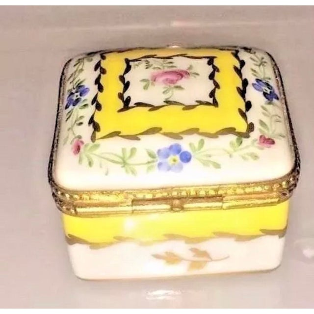Vintage Limoges Yellow & White Floral Box For Sale - Image 13 of 13