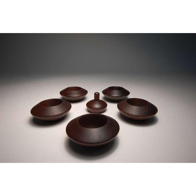 Mid-Century Modern Wenge Salt Chambers From Denmark For Sale - Image 3 of 7