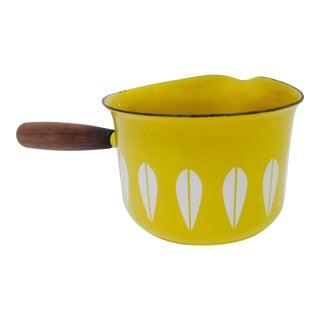 Cathrineholm Yellow Enamel Lotus Saucier Pot For Sale