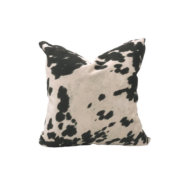 Traditional Pony Pillow, Black and White For Sale - Image 3 of 3