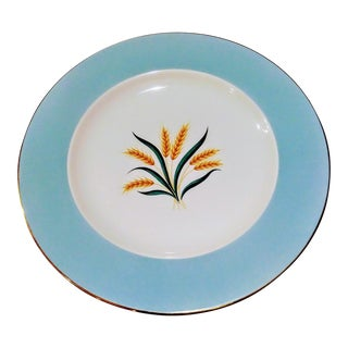 Set of 6 Viking International Tiffany Blue Sheaf of Wheat Dinner Plates