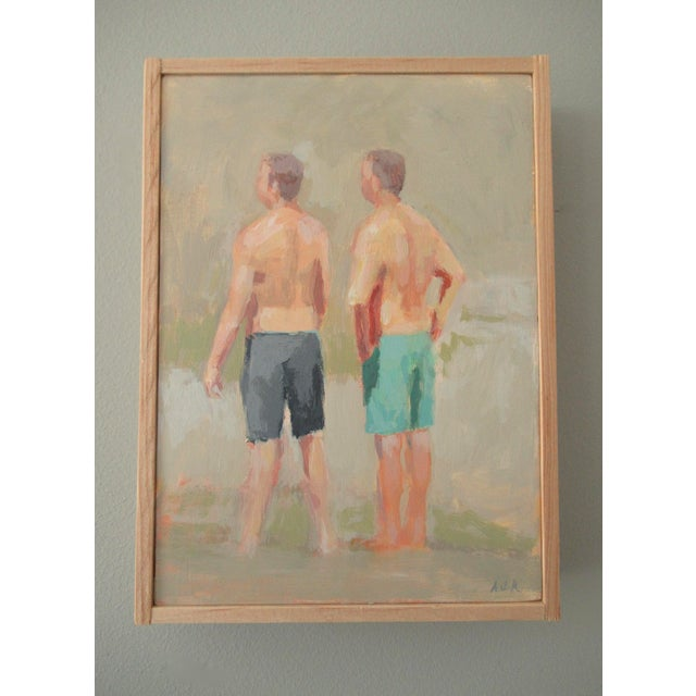 Figurative Swimming at the Falls by Anne Carrozza Remick For Sale - Image 3 of 5