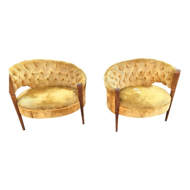 Asymmetrical Deco Chairs - Pairs - Image 1 of 3