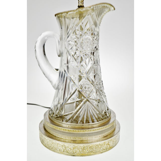 Victorian Style Cut Glass Pitcher Table Lamp For Sale - Image 4 of 13