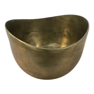 Antique Cast Metal Bowl For Sale