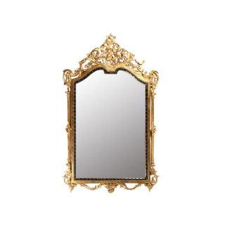 20th Century John-Richard Italian Carved Wood Mirror