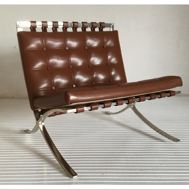 """The original Barcelona chair was designed by Mies van der Rohe in 1929. This is a collectible miniature """"1/6th size of the..."""