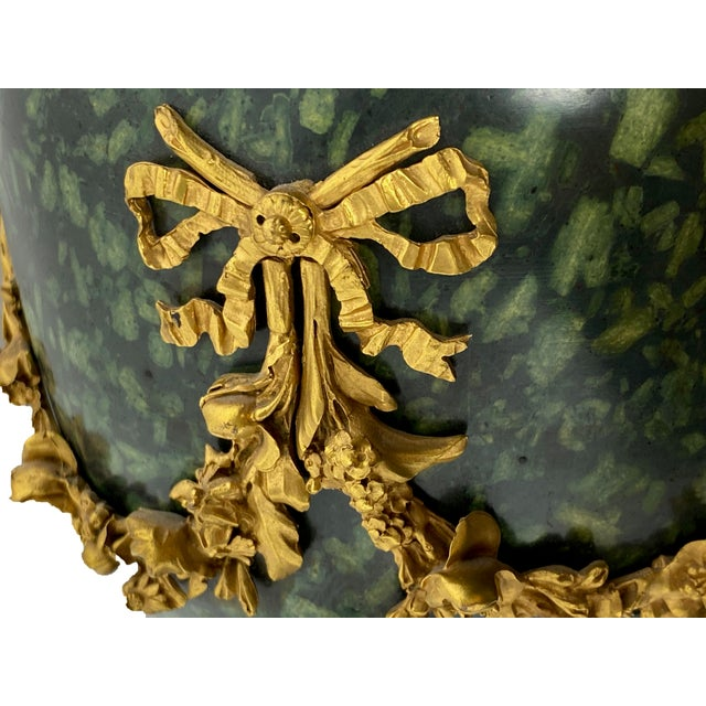 Early 18th Century Italian Porphyry Vases With Bronze Dore Mounts - a Pair For Sale In Dallas - Image 6 of 13