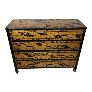 Black and Gold Lacquer Chest For Sale