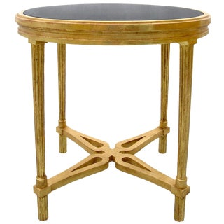Carved Italian Gilt-wood Table With Granite Top by Randy Esada Designs For Sale