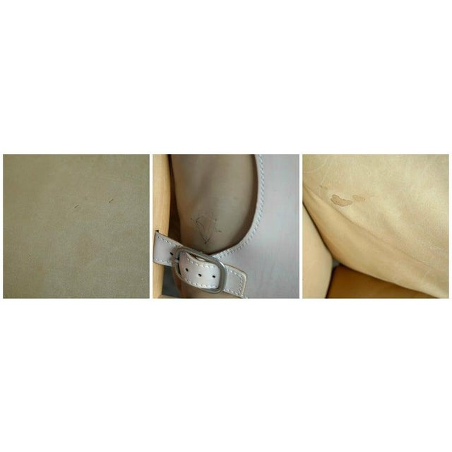 Arne Norell Safari 1960s Chair Model Ilona in Cream and Tan Leather For Sale - Image 9 of 11
