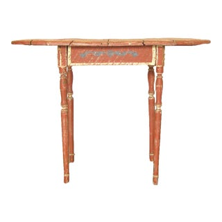 Antique French Provencal Painted Table For Sale