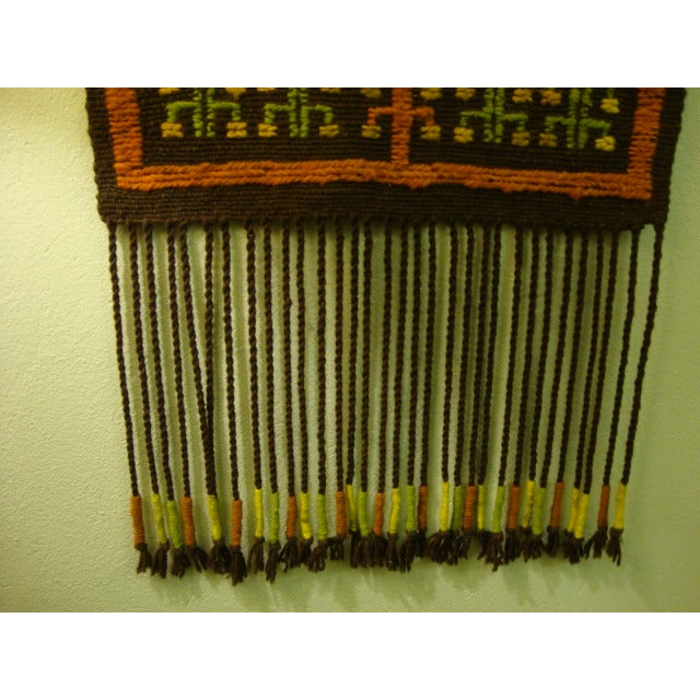 Mid-Century Woven Wool Tapestry - Image 6 of 6