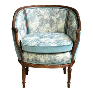 Mid 19th Century Louis XVI Boudoir Dutch Parlor Chair For Sale