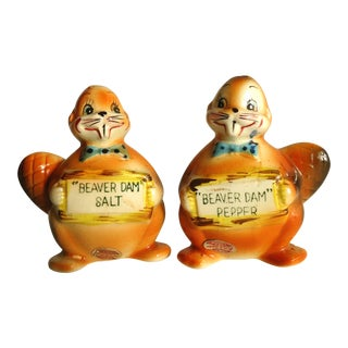Vintage Beaver Dam Pottery Salt & Pepper Shakers
