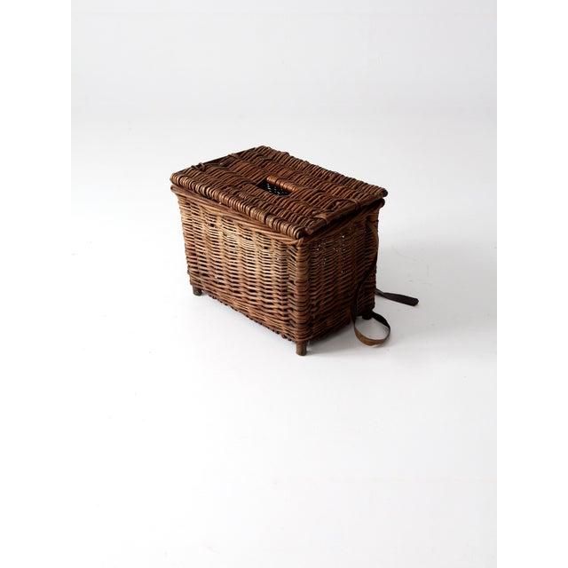 Antique Wicker Fishing Basket - Image 4 of 11