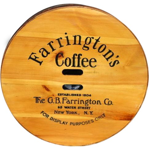 Vintage Old Stock Coffee Barrel Lid - Image 1 of 3