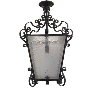Late 20th Century Wrought Iron Lantern For Sale