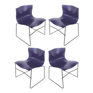 Knoll Ergonomic Handkerchief Chairs by Massimo & Lella Vignelli-Set of 4 For Sale