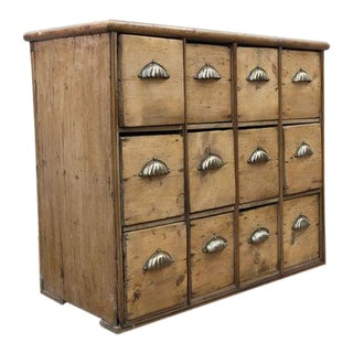 Mid 19th Century English Twelve Drawer Apothecary For Sale