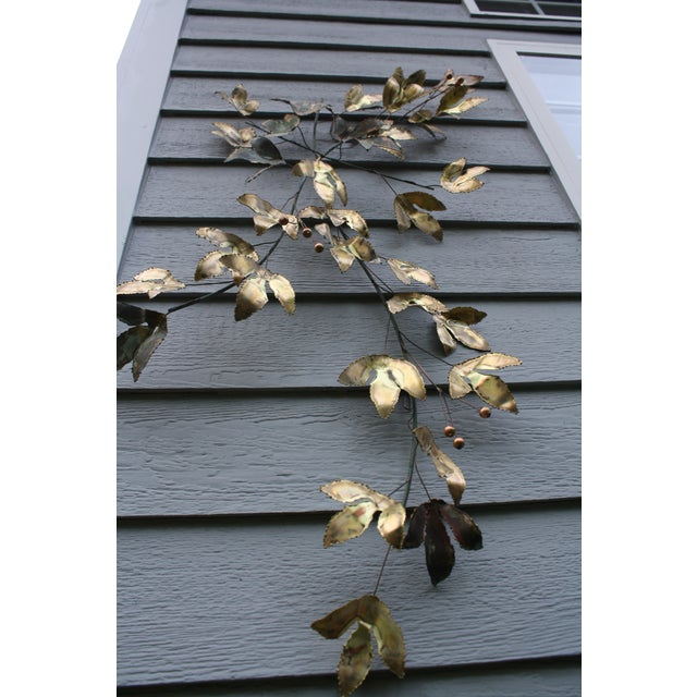 1969 Curtis Jere Mid Century Modern Metal Wall Sculpture Leafs, Signed For Sale - Image 12 of 13