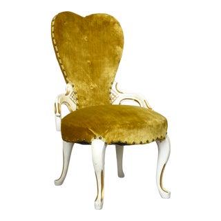 Gold Velvet Chair by Pelham, Shell & Leckie For Sale