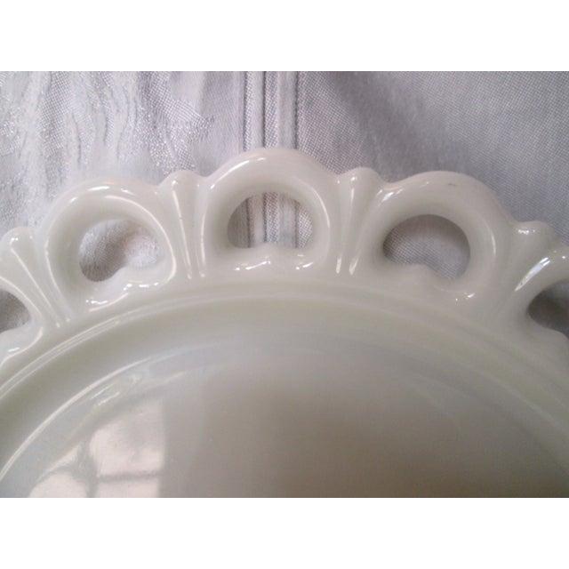 Midcentury Large Milk Glass Platter - Image 3 of 4