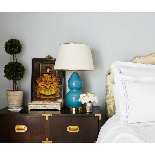 Baker Mid-Century Campaign Mahogany Chest of Drawers For Sale - Image 9 of 11