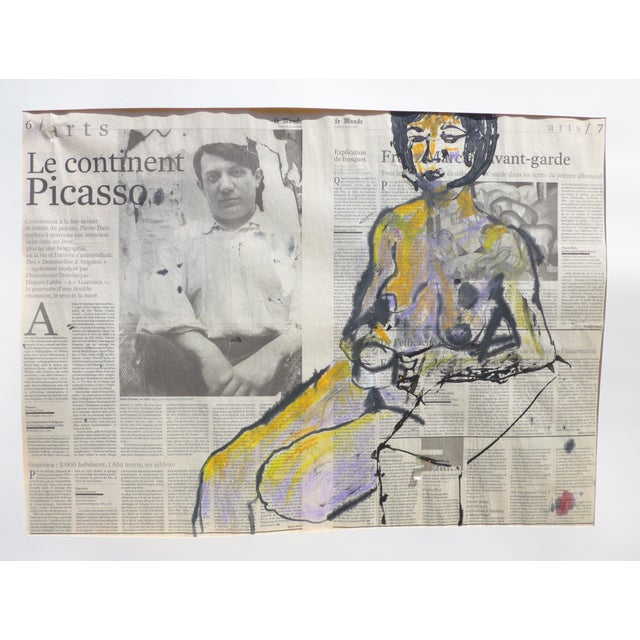 'Picasso & His Model' Drawing - Image 2 of 9