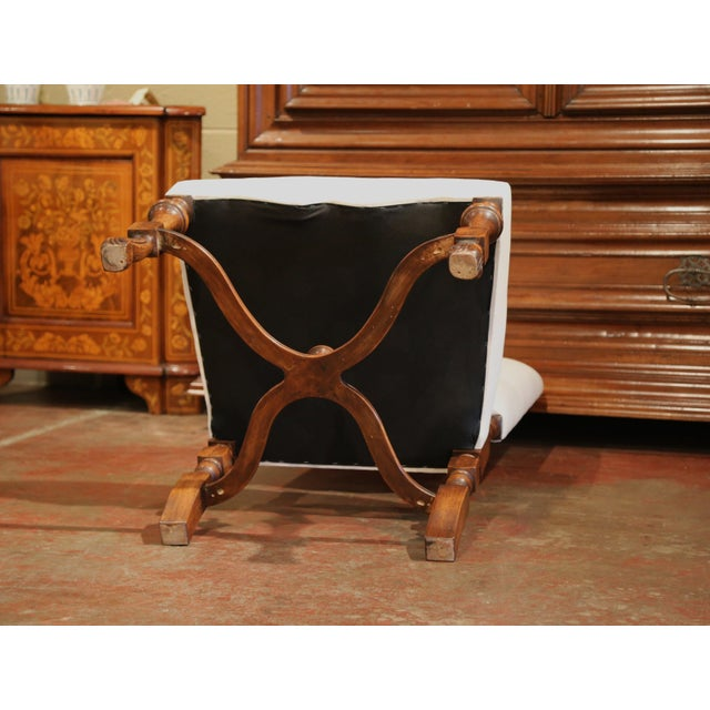 Large French Carved Walnut Dining Room Side Chairs With Arched Top - Set of 10 For Sale - Image 11 of 13