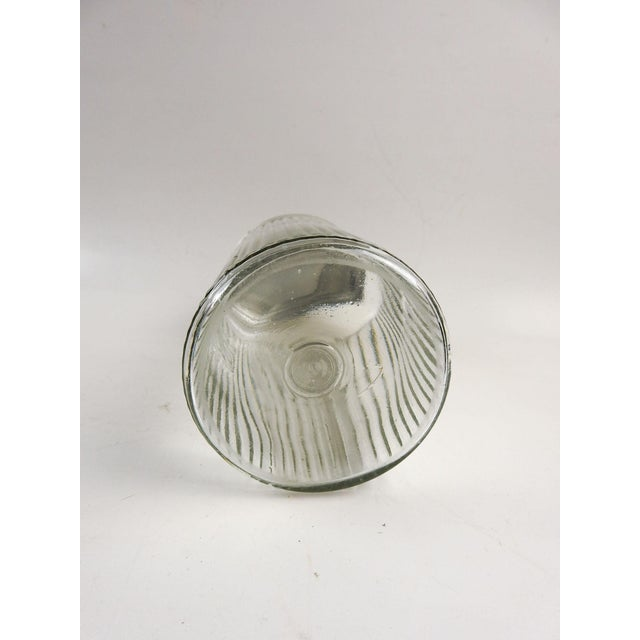 Ribbed Glass Coffee Canister For Sale - Image 4 of 5